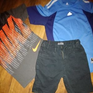 2 tops 1 Jean shorts
